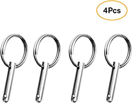 """4pcs 316 Stainless Steel Quick Release Pin 5//16/"""" For Boat Top Deck Hinge"""