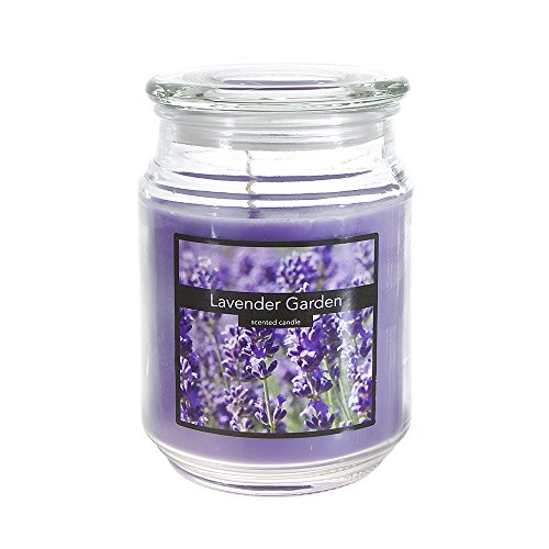 Lavender Garden Candle (Scented 18 ounce Glass Jar Container Candle - Lavender Garden by SRG)