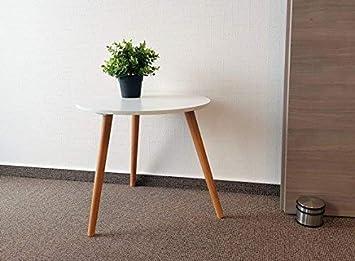 Design Couchtisch Weiss Retro Beistelltisch 48 Cm Holz Deko Tisch