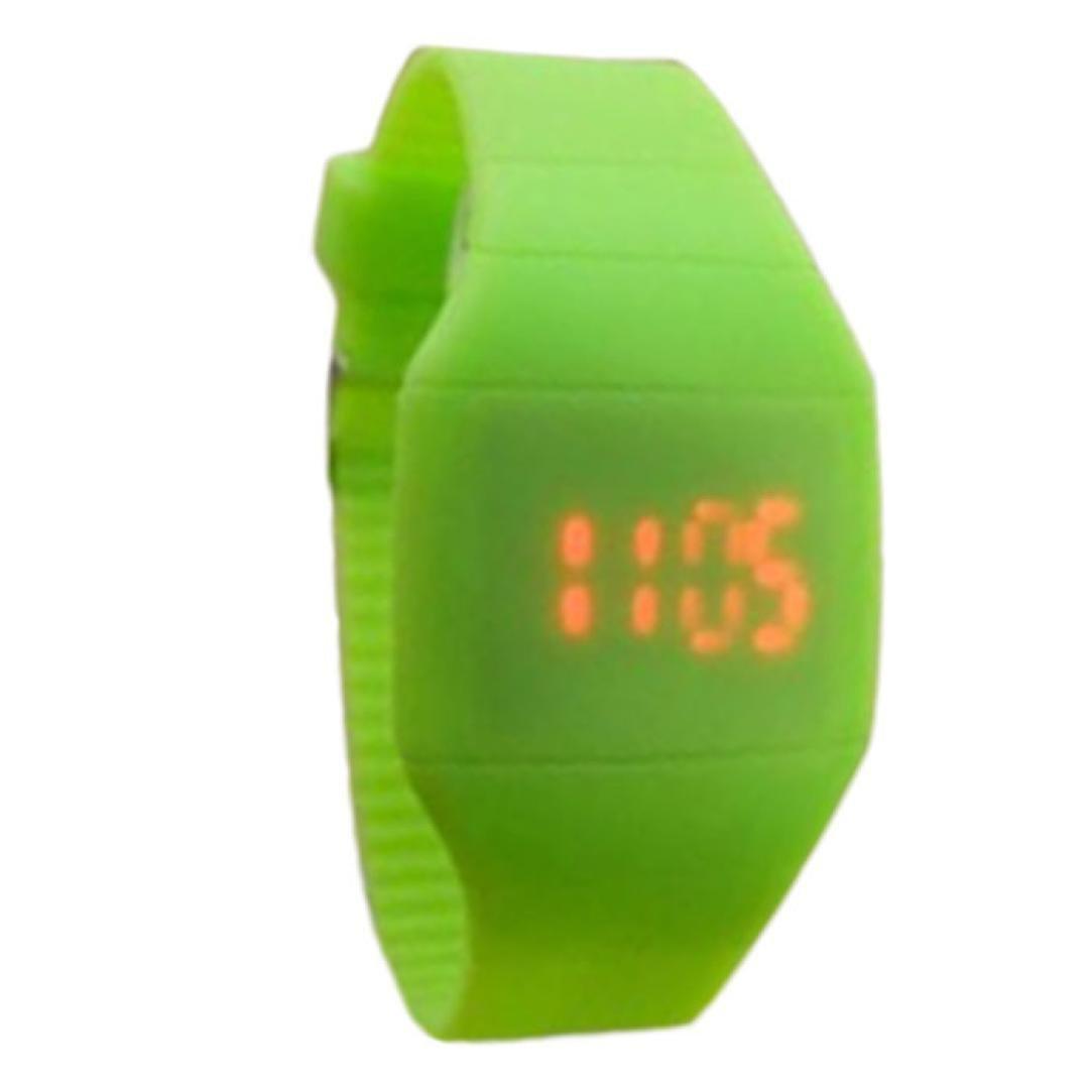 SMTSMT Children's The Jelly Ultra-Thin Sport Wrist Watch-Green