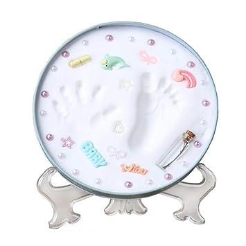 amazon com funwill baby handprint kit footprint photo frame for