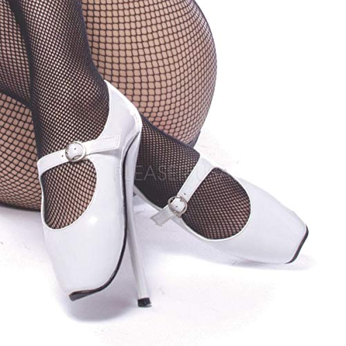 Devious Women's Ballet-08 Patent Leather Shoes,White Patent,6 M