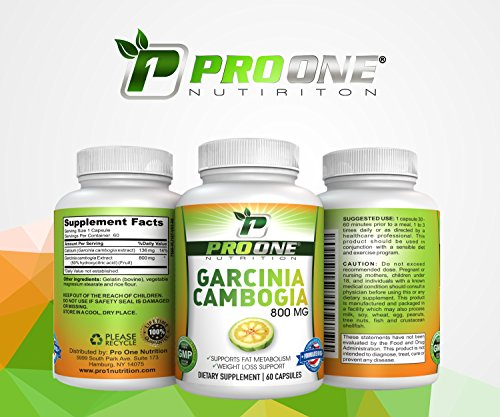 Pure Garcinia Cambogia 800MG by ProOne Nutrition. Add Garcinia to lose weight quickly and fast to diet, Increase Energy, improve Cholesterol, Stabilize Blood Sugar Levels and have a More Positive Mood by Pro One Nutrition (Image #8)