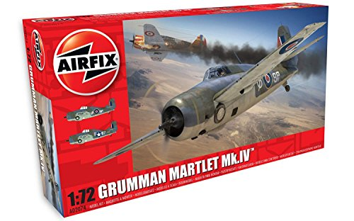 Airfix Grumman Martlet MK IV 1:72 Military Aircraft Plastic Model Kit
