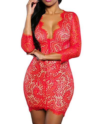 Womens Sexy Lace Party Dress product image