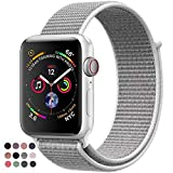 VATI Watch Sport Loop Band, Hook and Loop Fastener Adjustable Closure Wrist Strap Lightweight Breathable Nylon Replacement Band for Apple Watch Nike+, Series 3/2/1, Sport, Edition (38MM, Seashell)