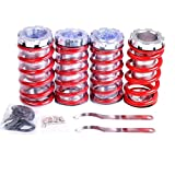 "Adjustable 1""- 4"" Lowering Suspension Coil over Coil Springs Red for Honda Civic CRX Acura Integra CS34401"