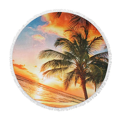 Sport Do 2018 Beach Towel Round Sunset - Yoga Blankets Overs