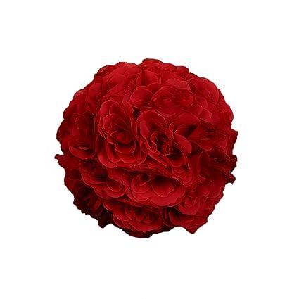 Dds5391 7inch silk flower kissing ball artificial rose wedding party pomander decoration 9 dds5391 7inch silk flower kissing ball artificial rose wedding party pomander decoration 9 mightylinksfo