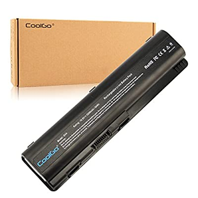 CoolGo New Laptop Battery for HP Pavilion DV4-1000 DV4-2000 DV5-1000 DV6-1000 DV6-2000 Series fits HSTNN-UB72 484170-001 hp replacement battery[Li-ion 6-cell 5200mAh/56WH 10.8V] from CoolGo