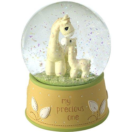 (Precious Moments My Resin/Glass My My Precious One Giraffe Musical Snow Globe, Yellow)