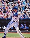 LUCAS DUDA NEW YORK METS SIGNED AUTOGRAPHED AT BAT 8X10 PHOTO W/COA