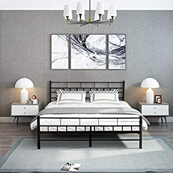 Amazon Com Giantex Wood Slats Bed Frame Platform