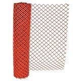 Chain Link Safety Fence, 4 ft x 100 ft, Polyethelene, Orange