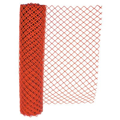 Chain Link Safety Fence, 4 ft x 100 ft, Polyethelene, Orange