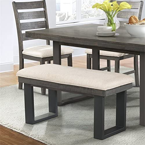 Picket House Furnishings Sullivan Bench Transitional Dark Ash Rubber Wood