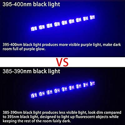 Black Light, WOWTOU 27W 385nm UV LED Bar Glow in The Dark Party Supplies for Blacklight Party Birthday Wedding Stage Dance Floor Lighting