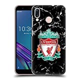 Official Liverpool Football Club Black Crest 2017/18 Marble Hard Back Case for Asus Zenfone 3 Zoom ZE553KL