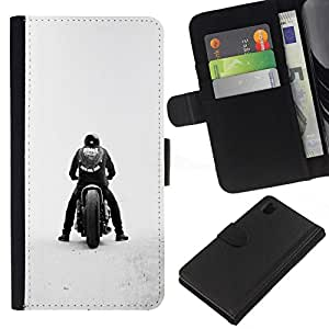 NEECELL GIFT forCITY // Billetera de cuero Caso Cubierta de protección Carcasa / Leather Wallet Case for Sony Xperia Z1 L39 // Bobber de la motocicleta
