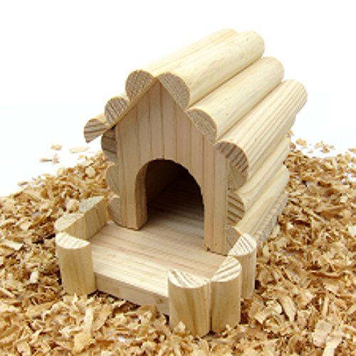 Alfie Pet - Ronald Wood Hideout Hut for Mouse, Chinchilla, Rat, Gerbil and Dwarf - Hamster Hut Wood