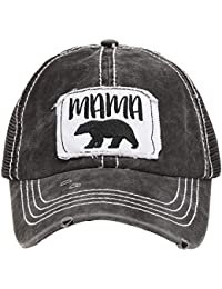 39ee4e69921 Women's Baseball Caps Distressed Vintage Patch Washed Cotton Low Profile  Embroidered Mesh Snapback Trucker Hat
