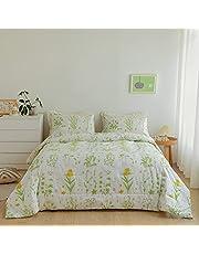 Argstar Floral Comforter, Flower Down Alternative Comforter Set, 200 GSM Soft and Lightweight Bedding Comforter Set