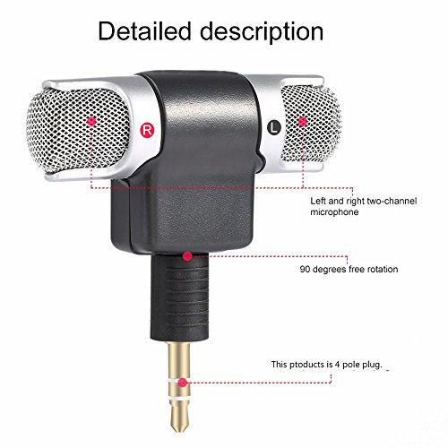 ZYSWS Portable mini microphone for phone Recordings for YouTube iphone 8 microphone(4 poles)