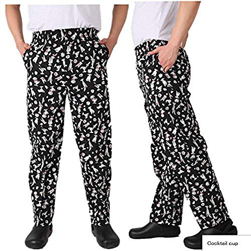 Chef Clothing Classic Baggy Pepper Chef Pants (L, Cocktail Cup)