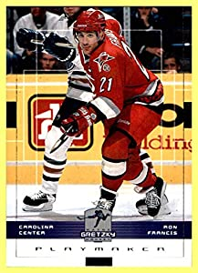 1999-00 Upper Deck Wayne Gretzky Hockey #37 Ron Francis CAROLINA HURRICANES