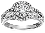 14k White Gold Composite Diamond Wedding Ring (1 cttw, H-I Color, I1-I2 Clarity), Size 7