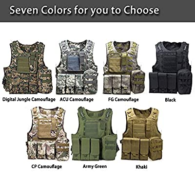 Top of top store Outdoor Hunting Tactical Carrier Vest Molle Waistcoat Multi-Pocket Paintball Game Training
