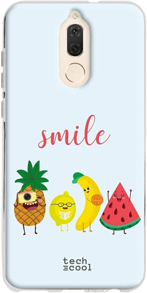 Gel Silicona Flexible, Dise/ño Exclusivo Dise/ño Smile Frutas Vers.1 Fondo Verde Funnytech/® Funda Silicona para Huawei Mate 10 Lite
