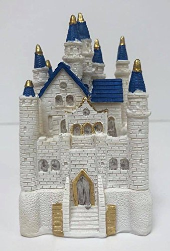 Amazon Com 4 1 2 White And Blue Fairy Tale Castle Cake Top