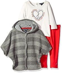 Nautica Baby Sweater Jacket Shirt and Legging, Medium Grey Heather, 6 Months