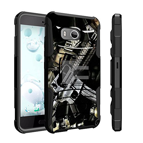 Untouchble Case for HTC U11 Case, HTC Ocean Holster Case, HTC U 11 Case [Heavy Duty Clip] Dual Layer Rugged Hybrid Armor [Kickstand] [Swivel Holster] - Tough Assault Rifle