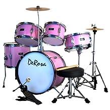 De Rosa DRM516-PK 5-Piece Drum Set, Pink