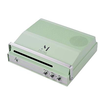 Kalaok Reproductor de registro portátil con ranura para vinilo de ...