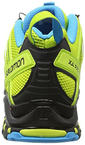 Salomon Herren Xa Pro 3D Traillaufschuhe, Grau, 49.3 EU Mehrfarbig (Lime Green/Hawaiian Sury/Black)