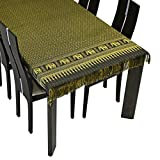 AeraVida Thai Golden Elephant Rectangle Table Cloth (Black)