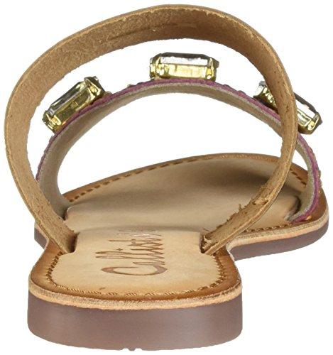 exotiques doré Callisto sandales Wrigley femmes plates Znaqz4