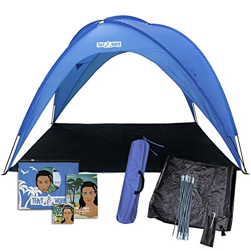Beach tent sun shelter UV protection – portable sunshade canopy shade for outdoor camping patio party, Family, baby, girls for 8 people