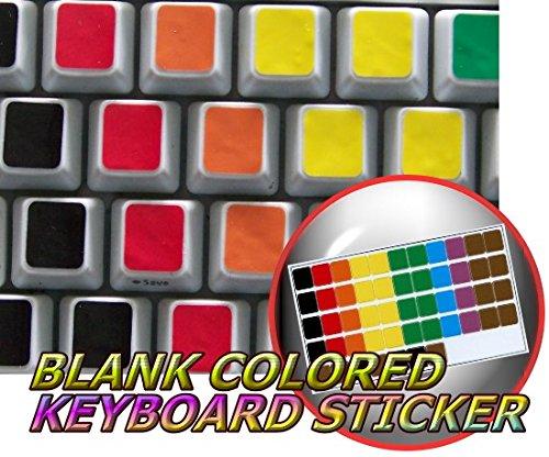 BLANK COLORED KEYBOARD STICKERS (Mac Alienware)