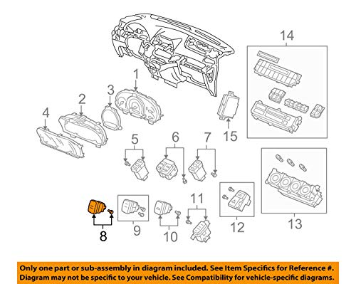 Genuine Honda 35300-SHJ-A61 Vsa Off Switch Assembly ()