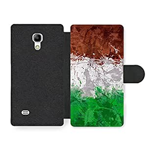 Italian Flag Italy Bandiera Italiana Tricolore Italiano Faux Leather case for Samsung Galaxy S4 mini