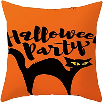 Amazon.com: Happy Halloween Funda de almohada de lino ...