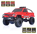 #8: RGT RC Crawlers RTR 1/24 Scale 4wd Off Road Monster Truck Rock Crawler 4x4 Mini RC Car with Lights (Red)