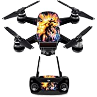 Skin for DJI Spark Mini Drone Combo - Leo Galaxy| MightySkins Protective, Durable, and Unique Vinyl Decal wrap cover | Easy To Apply, Remove, and Change Styles | Made in the USA