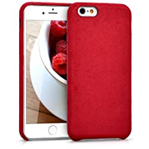 kwmobile Case for Apple iPhone 6 / 6S - smartphone cover plastic softcase protective case alcantara case cover backcover in red