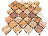 #3: Scabos Travertine Lantern (Arabesque) Mosaic Tile