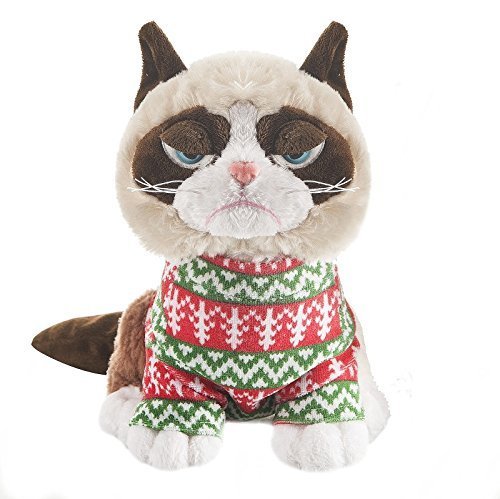 Grumpy Cat in Holiday Sweater]()